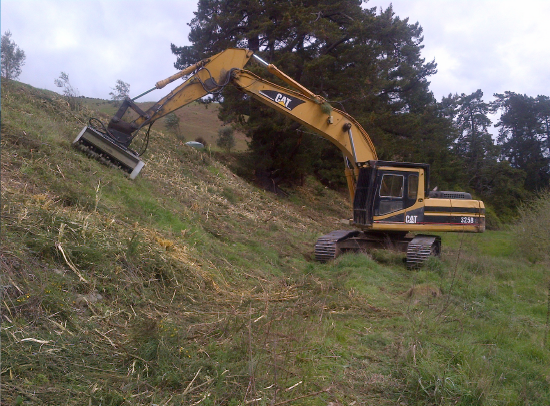 Awatere Valley Excavator Mulching